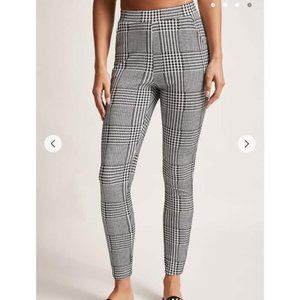 Plaid Gingham High Waisted Pants Forever 21